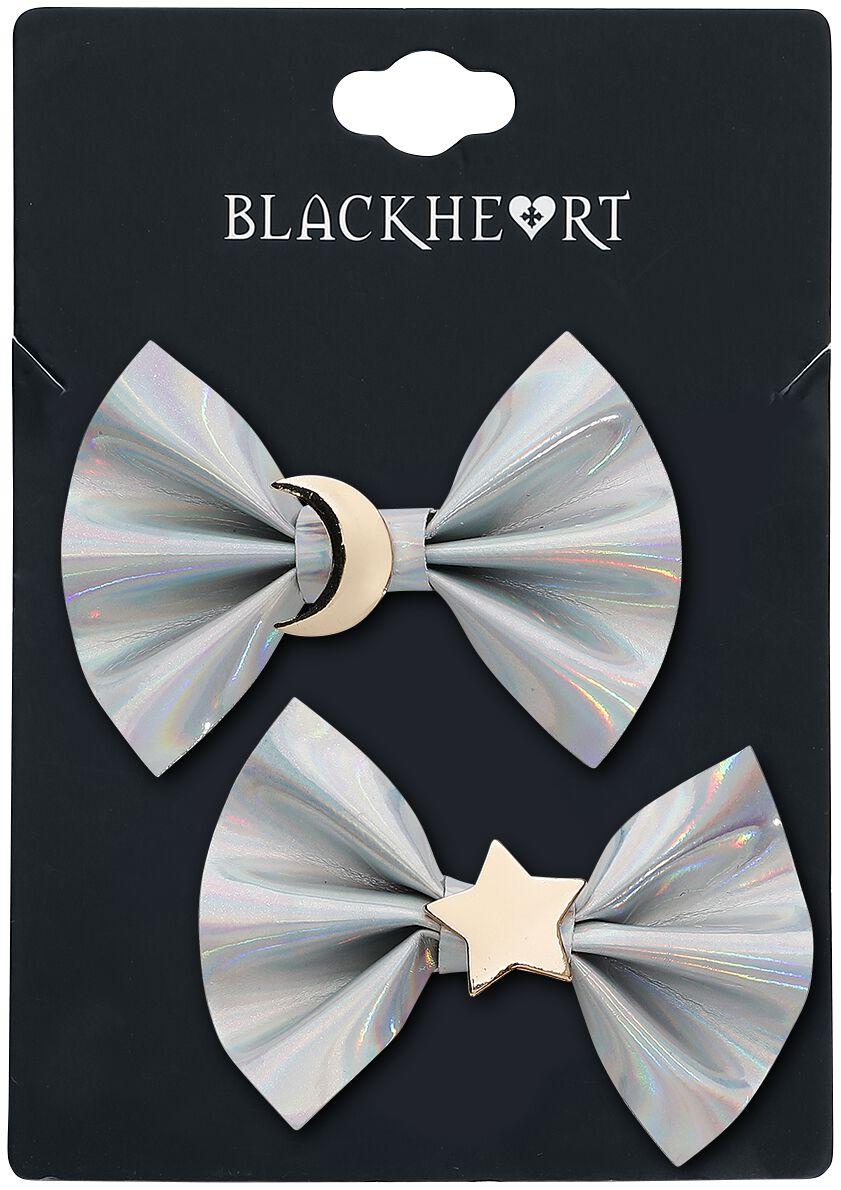 Image of   Blackheart Moon & Star Hårspænde sølvfarvet