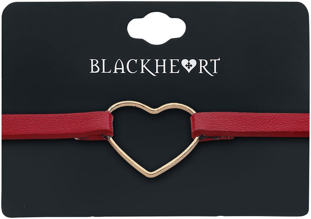 Image of   Blackheart Golden Heart Halsbånd rød/guld