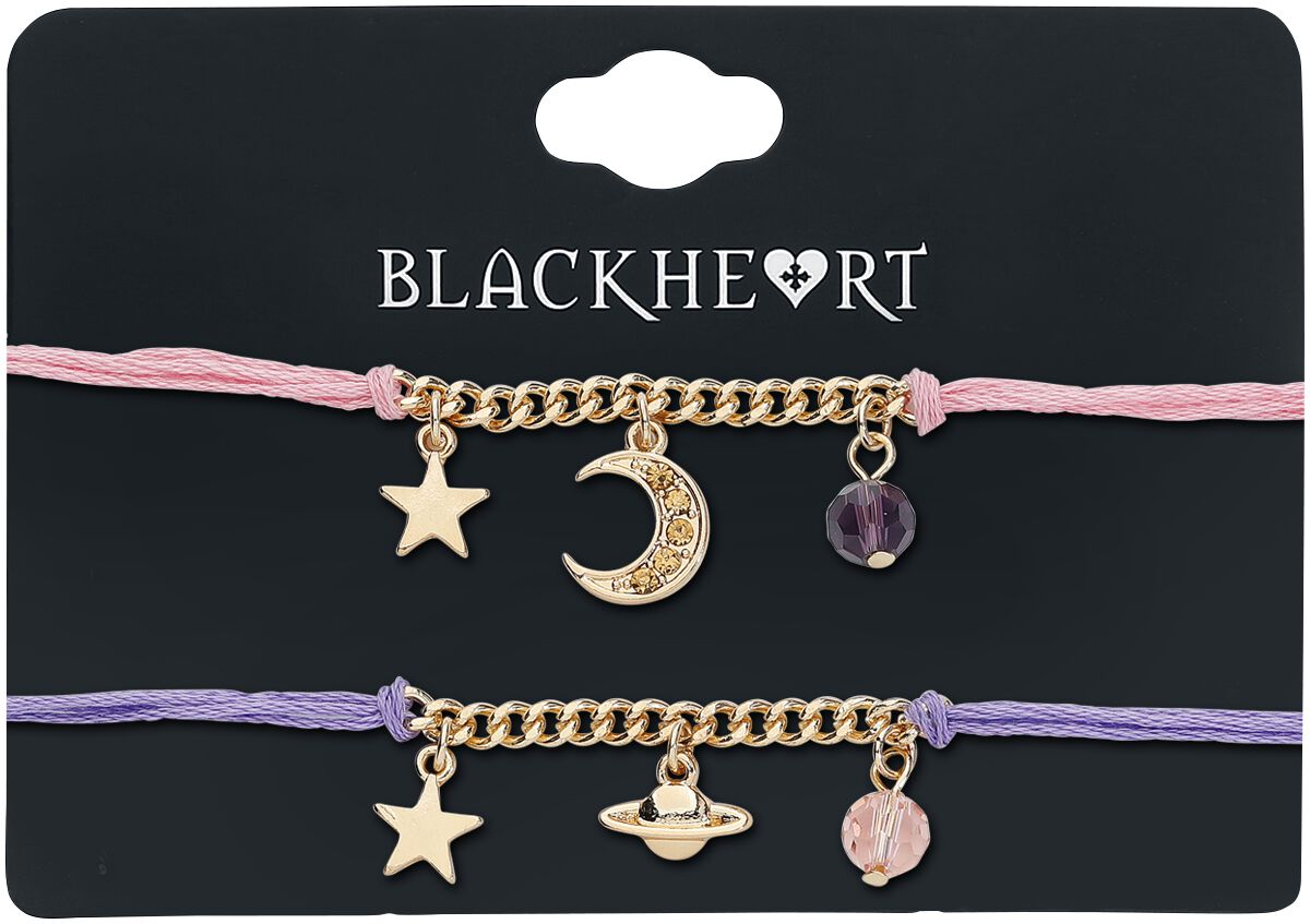 Armbaender für Frauen - Blackheart Galaxy Armband Set multicolor  - Onlineshop EMP