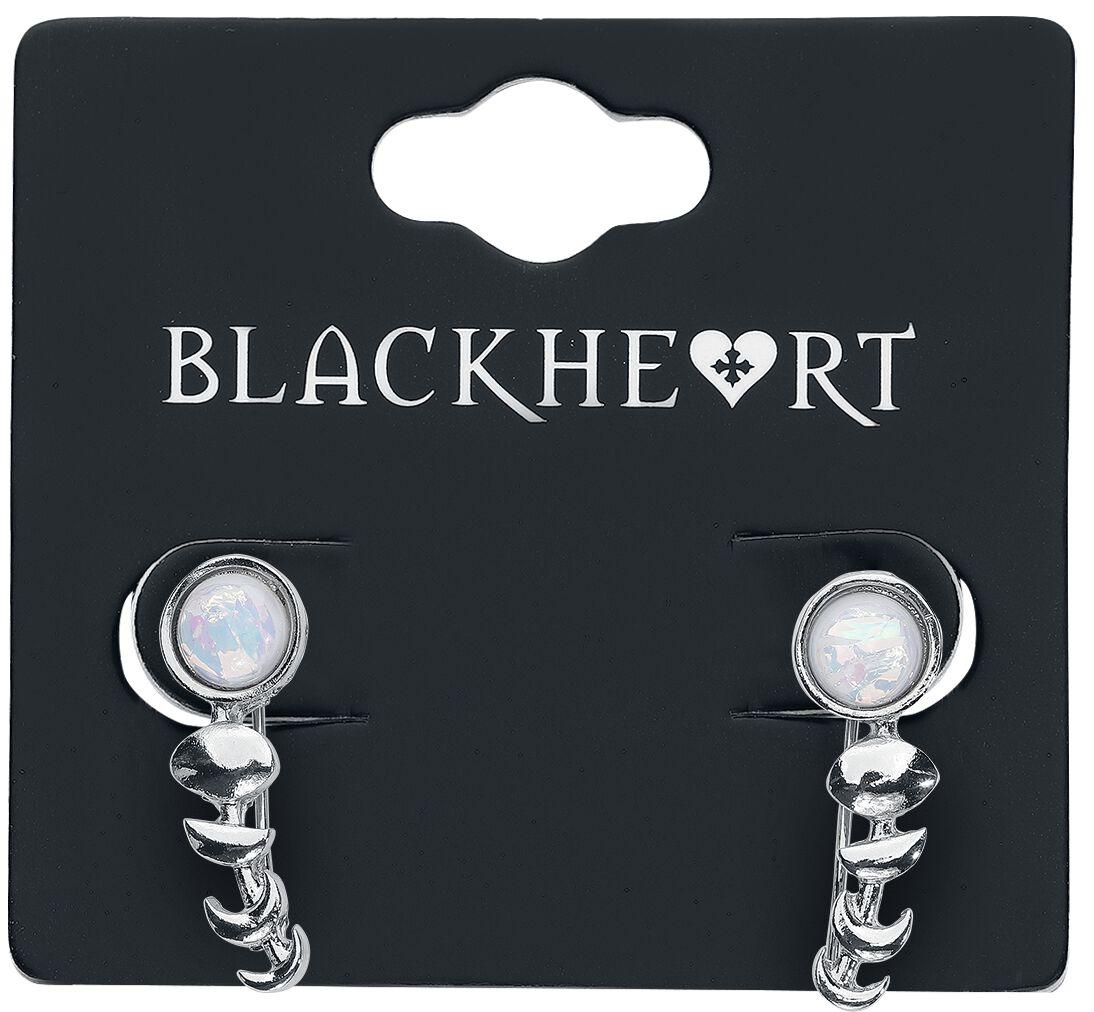 Image of   Blackheart Lunar Ørestik sæt sølvfarvet