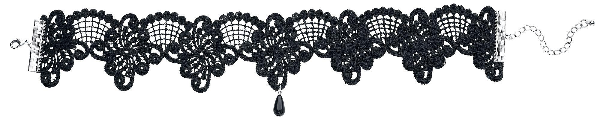 Image of   Blackheart Black Lace Halsbånd sort
