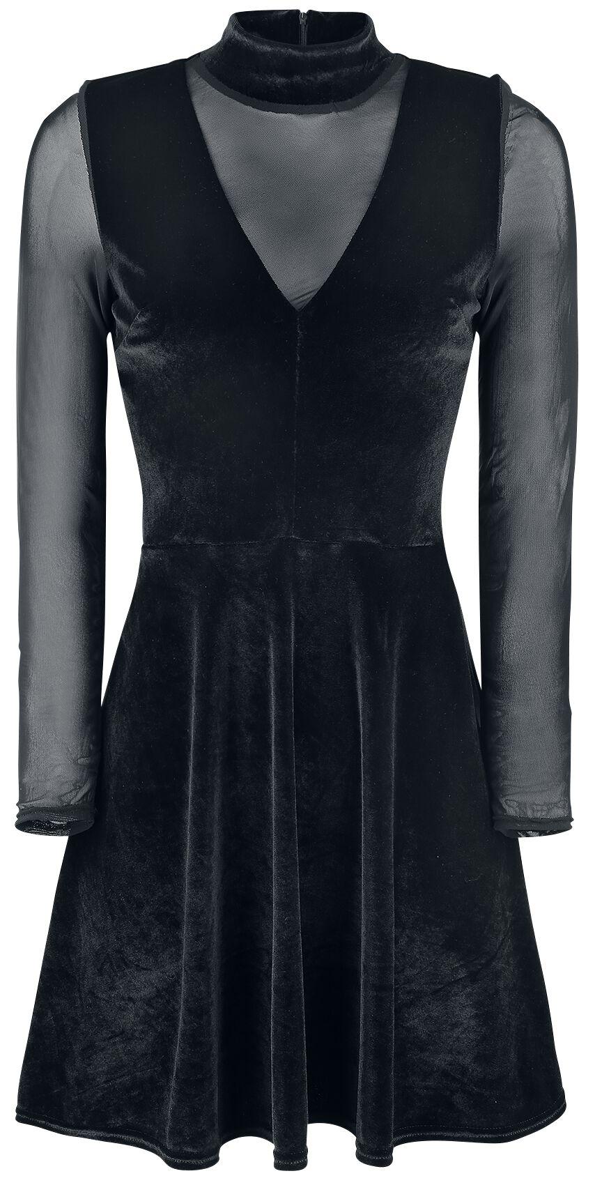 Fashion Victim Velvet Dress Kleid schwarz