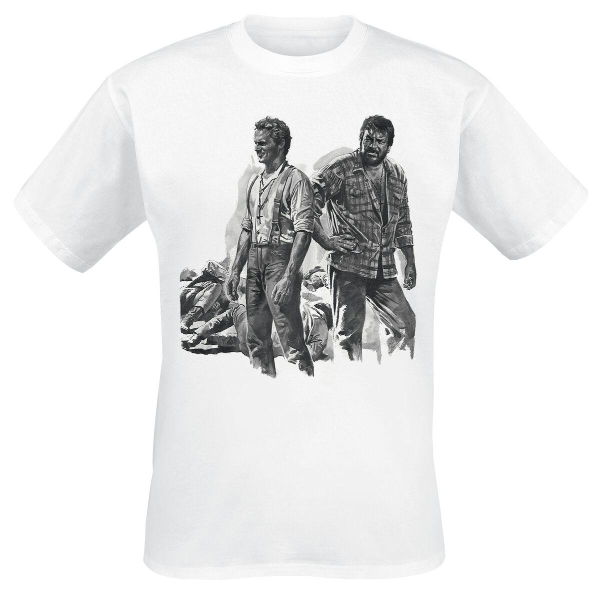 Merch dla Fanów - Koszulki - T-Shirt Bud Spencer Zwei Himmelhunde auf dem Weg zur Hölle T-Shirt biały - 353366