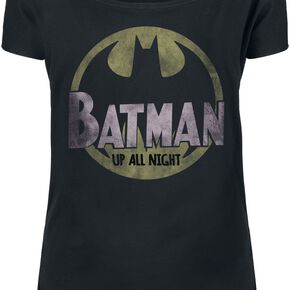 Batman Up All Night T-shirt Femme noir