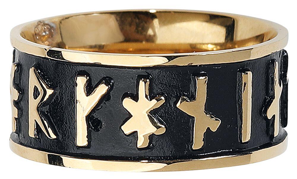 Marki - Pierścienie - Pierścień etNox Schriftzeichen Pierścień czarny/złoty - 353493