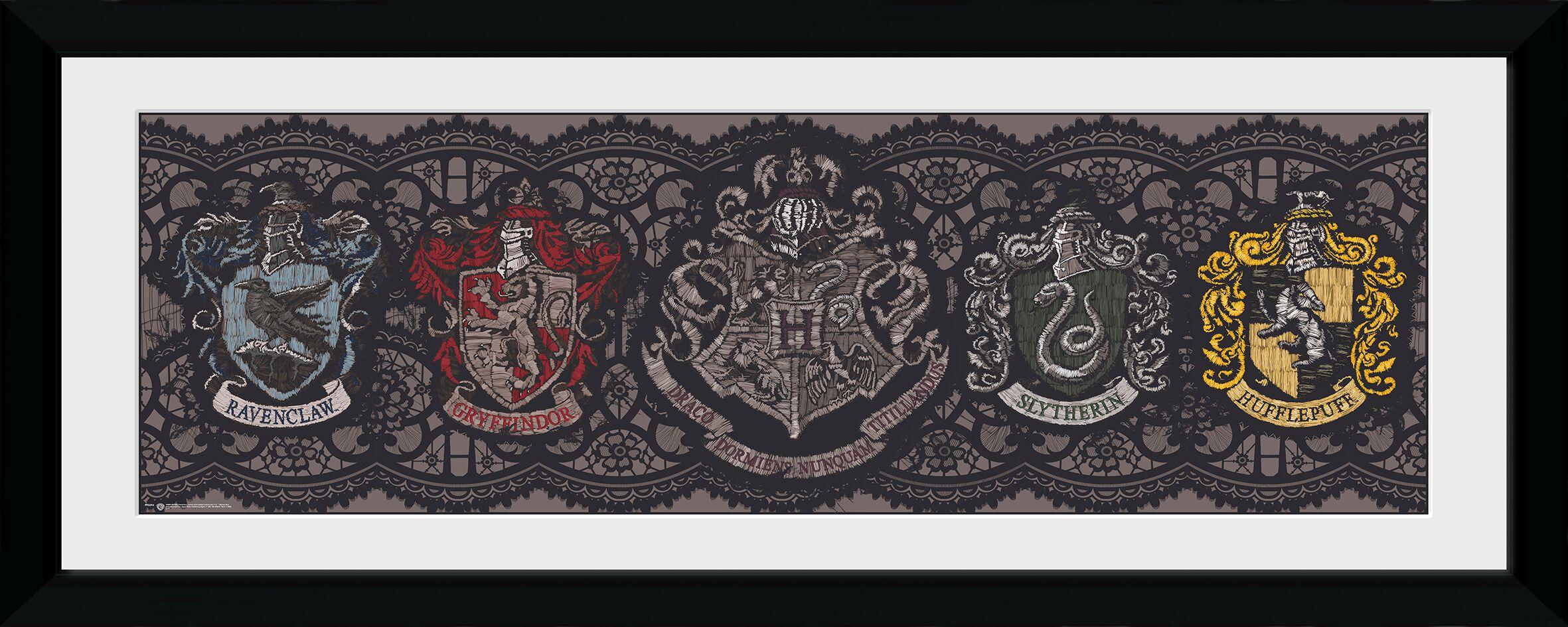 Image of   Harry Potter Crests Indrammet billede multifarvet