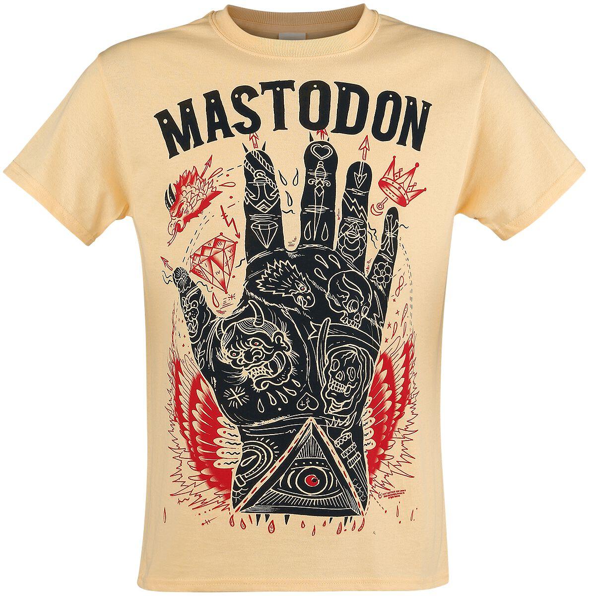 Zespoły - Koszulki - T-Shirt Mastodon Tattooed Hand T-Shirt żółty - 353538
