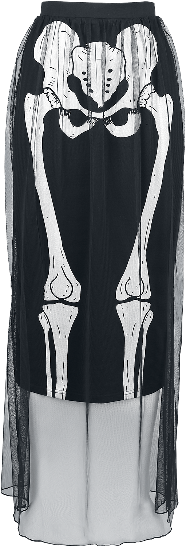 Jawbreaker Skeleton Skirt Spódnica czarny