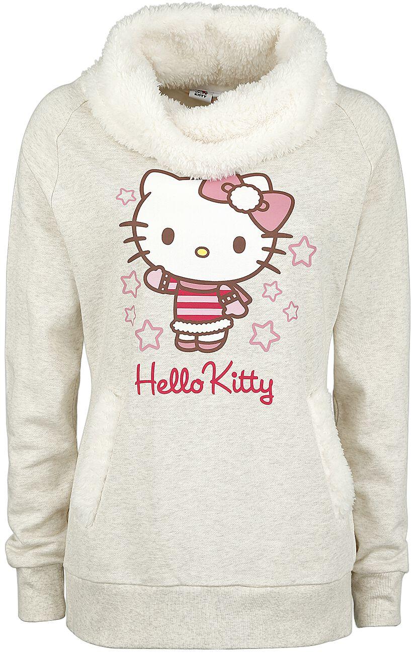 Merch dla Fanów - Bluzy - Bluza damska Hello Kitty Bluza damska odcienie beżowego - 353571