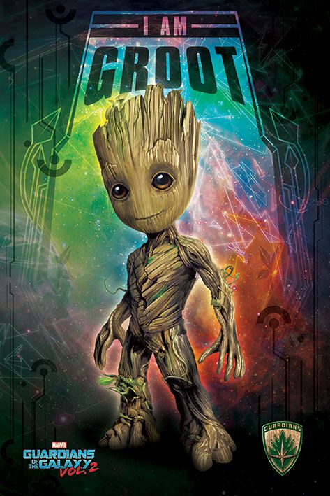 Image of   Guardians Of The Galaxy 2 - I am Groot - Space Plakat Standard