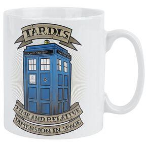 Doctor Who Tattoo Tardis Mug blanc