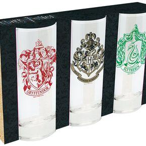 Harry Potter Set of 3 Glasses