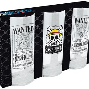 One Piece Wanted Set verres transparent