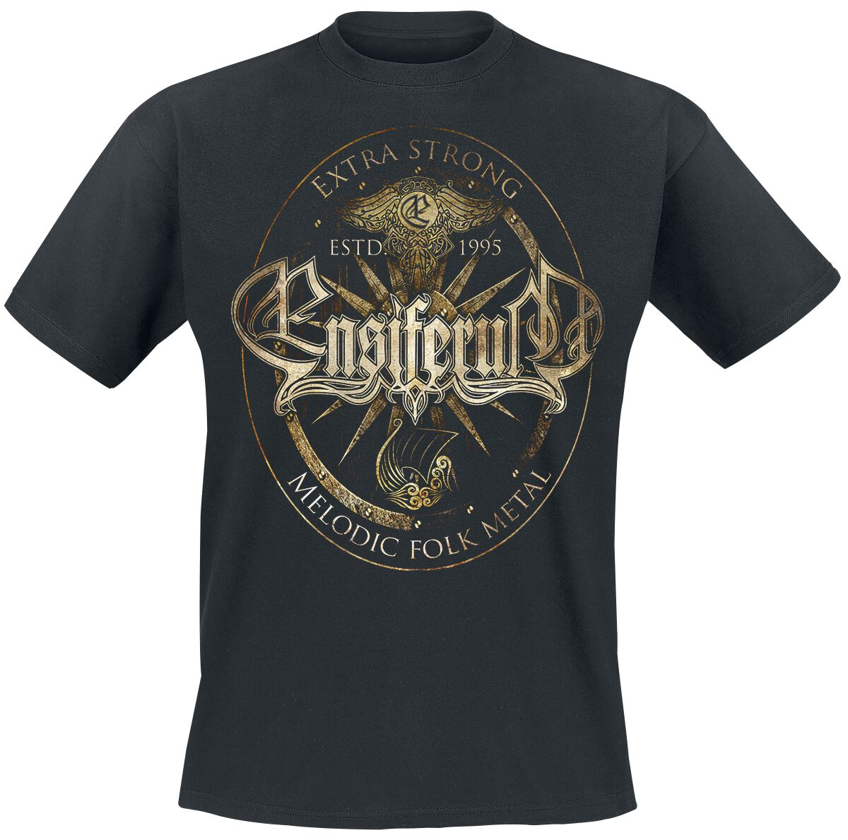 Zespoły - Koszulki - T-Shirt Ensiferum Melodic Folk Metal T-Shirt czarny - 353697