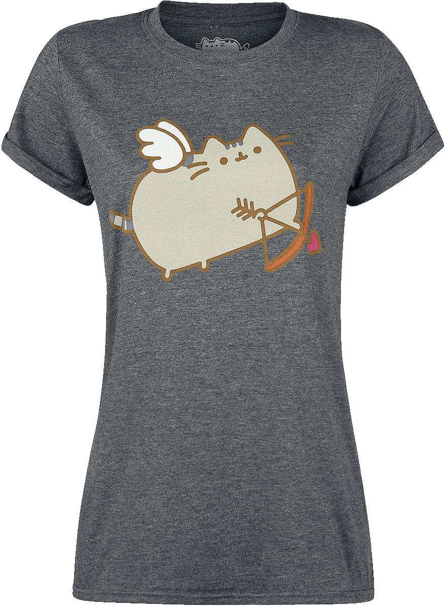 Pusheen Love Cat Koszulka damska ciemnoszary