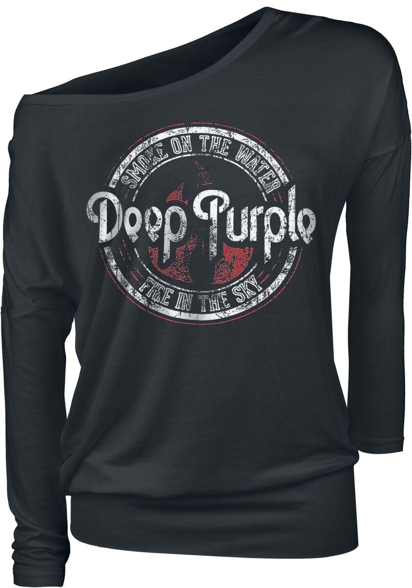 Zespoły - Longsleeve - Longsleeve damski Deep Purple Smoke on the water Longsleeve damski czarny - 353782