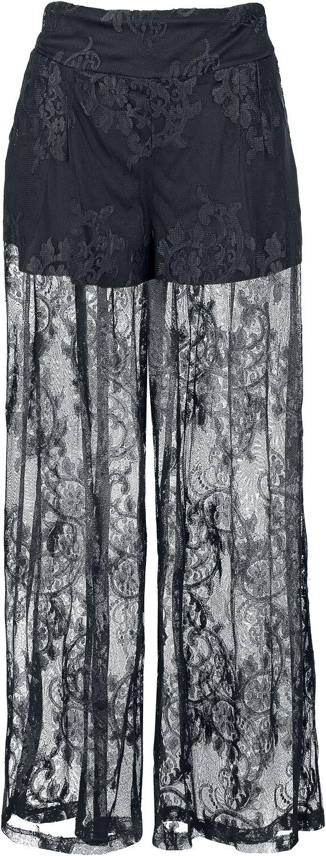 Marki - Spodnie długie - Spodnie damskie Jawbreaker Lace Trousers Spodnie damskie czarny - 353794
