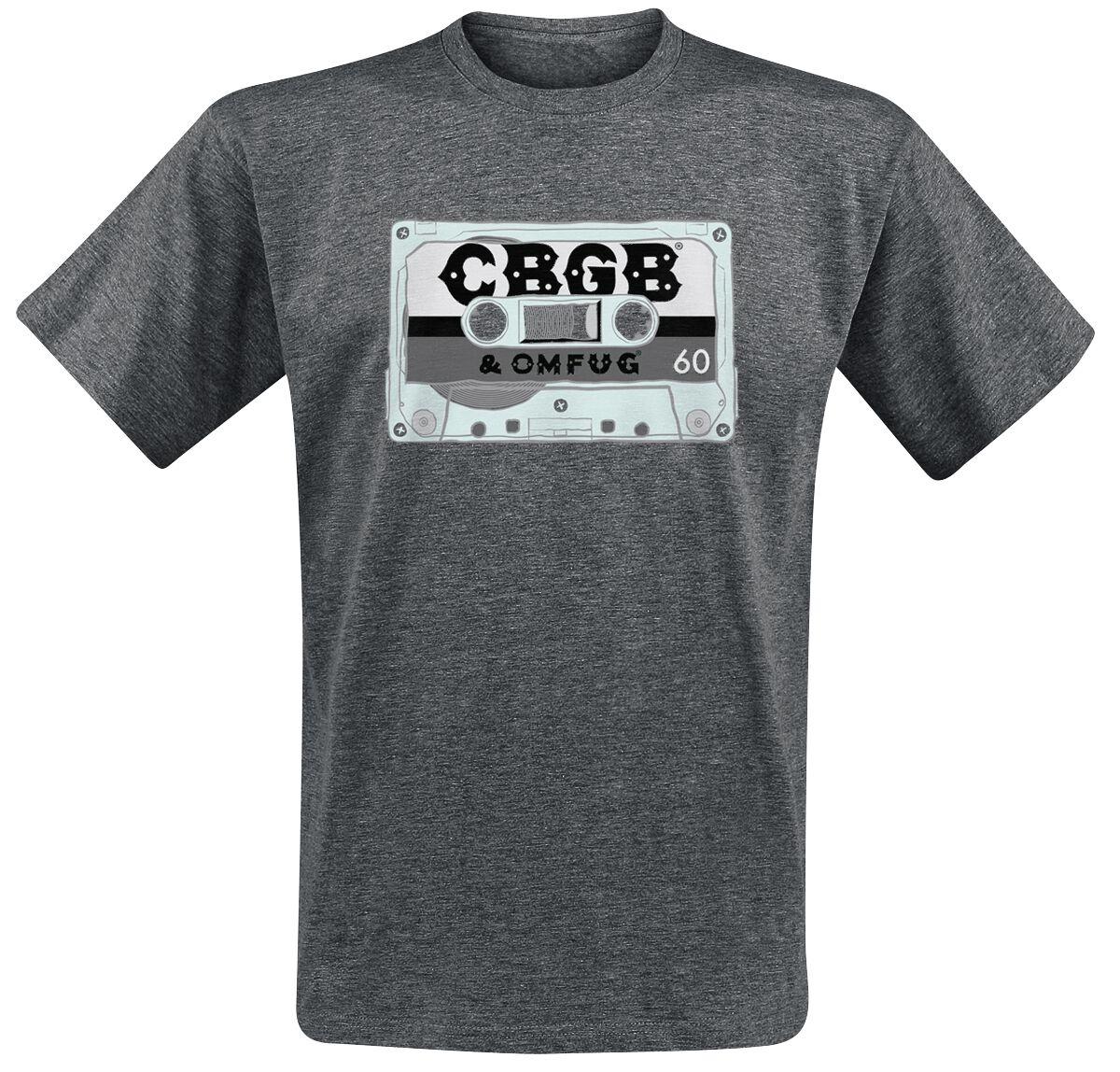 Merch dla Fanów - Koszulki - T-Shirt CBGB Cassette T-Shirt odcienie szarego - 353842