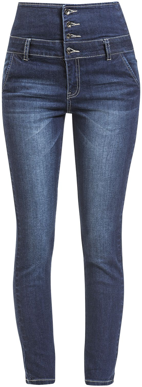Image of   Forplay High Waist Denim Jeans Girlie jeans mørk blå