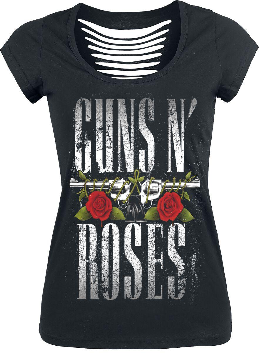 Image of   Guns N' Roses Big Guns Girlie trøje sort