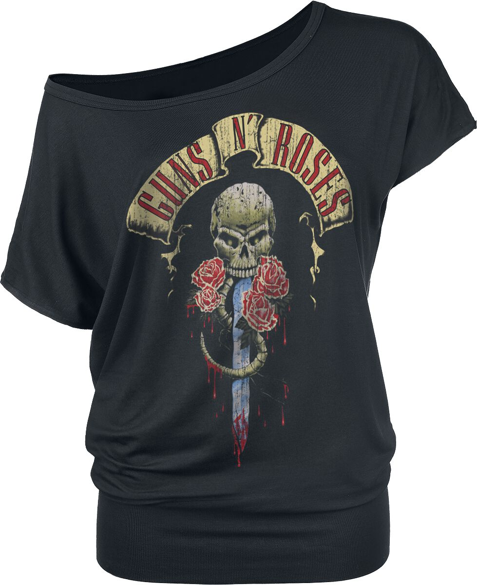 Image of   Guns N' Roses Dripping Dagger Girlie trøje sort