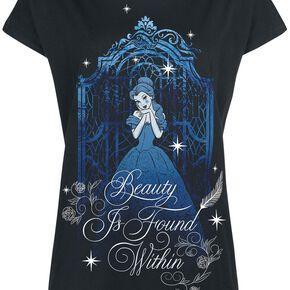 La Belle Et La Bête Blue Beauty T-shirt Femme noir