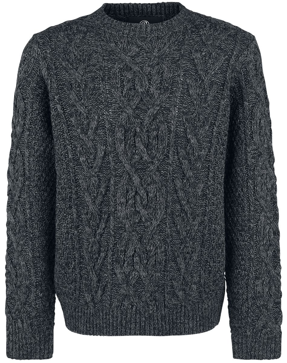 Image of   Brandit Cable Pullover Sweatshirt Antracitmix