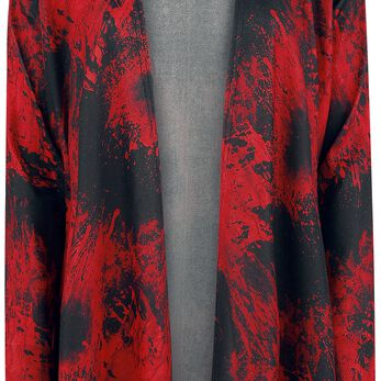 The Walking Dead Blood Cardigan pour Femme noir/rouge