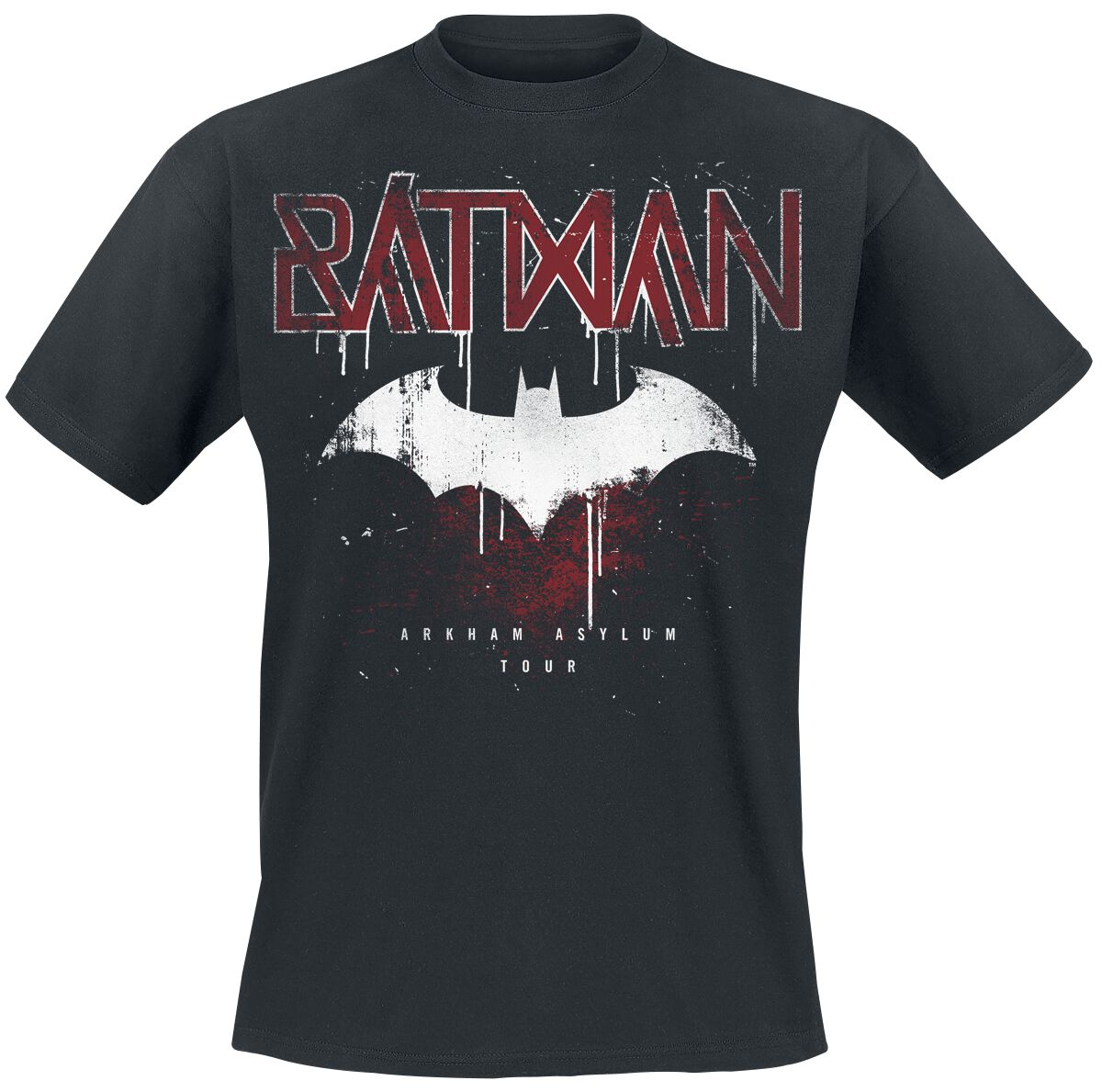 Image of   Batman Arkham Asylum Tour T-Shirt sort