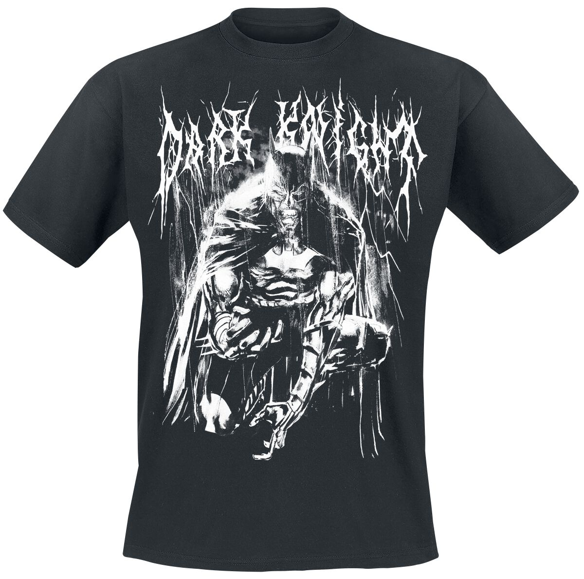 Image of   Batman Bat Metal T-Shirt sort