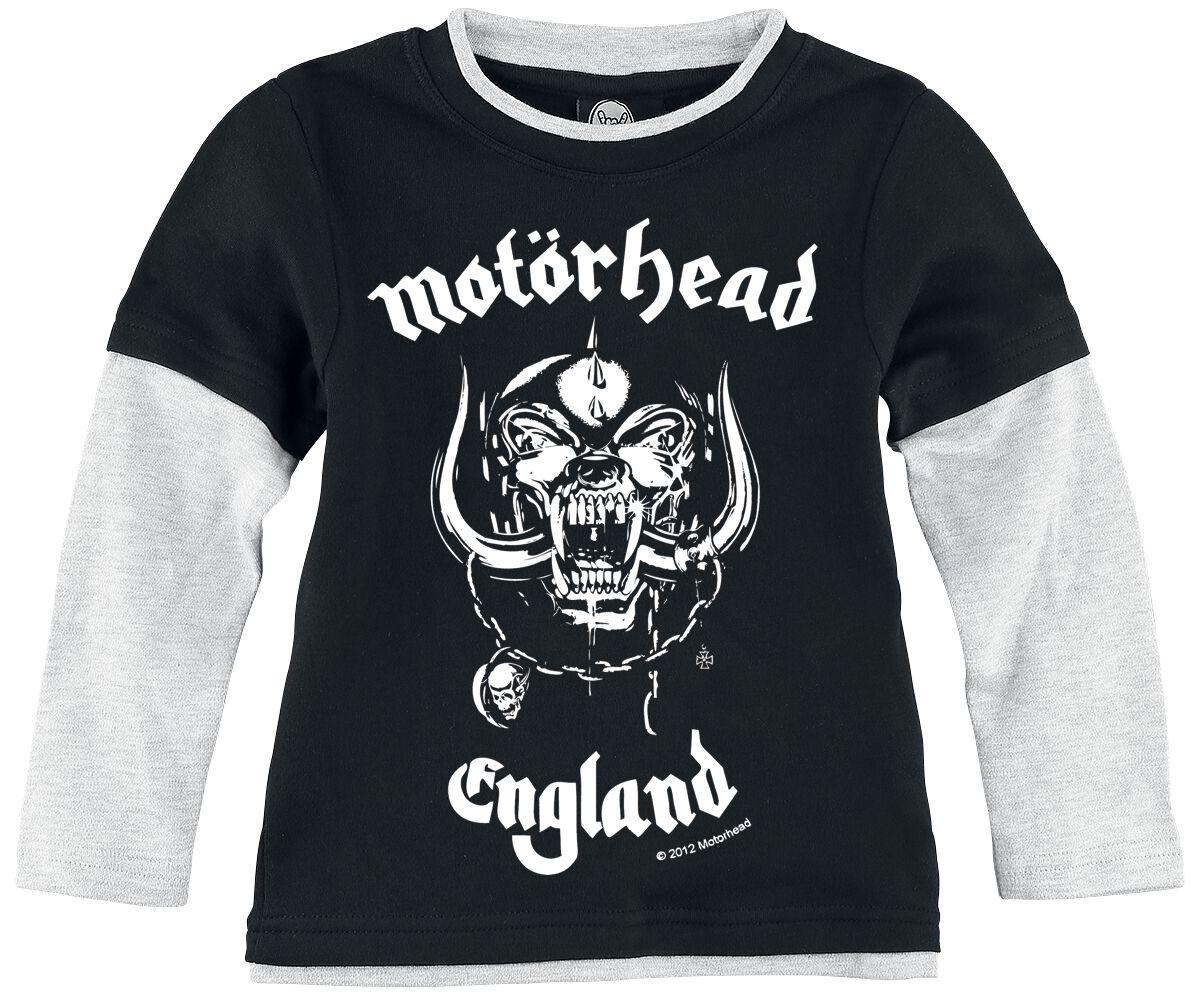 Image of   Motörhead England Børnelangærmet meleret sort-gå