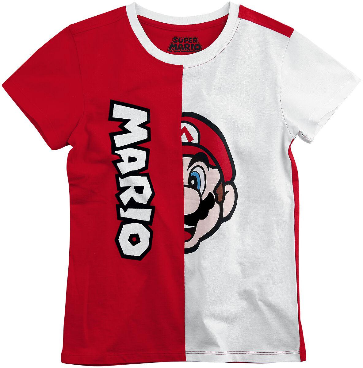 Image of   Super Mario Mario Børnetrøje rød-hvid