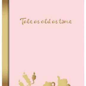 La Belle Et La Bête Tale As Old As Time Cahier rose clair