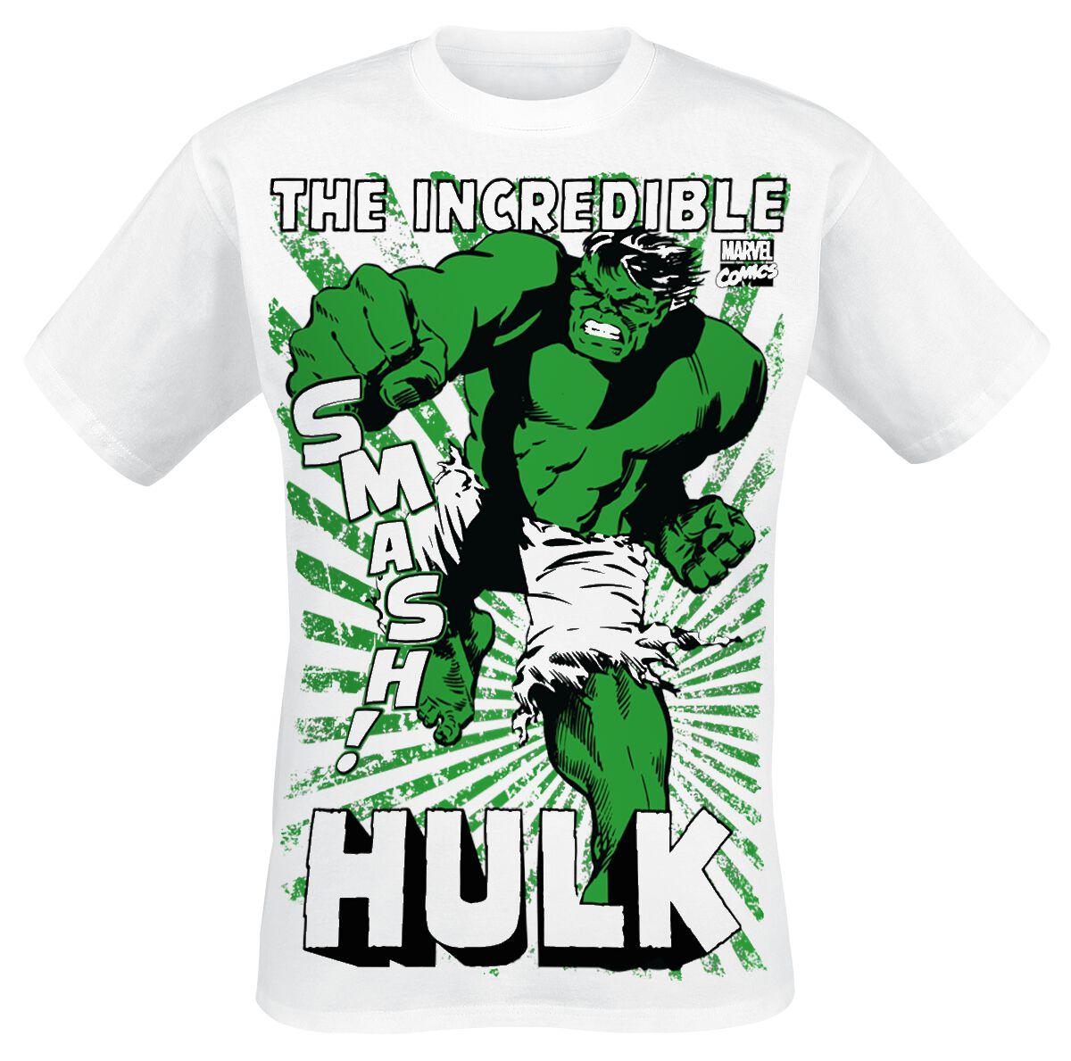 Merch dla Fanów - Koszulki - T-Shirt Hulk The Hulk Smash T-Shirt biały - 354261