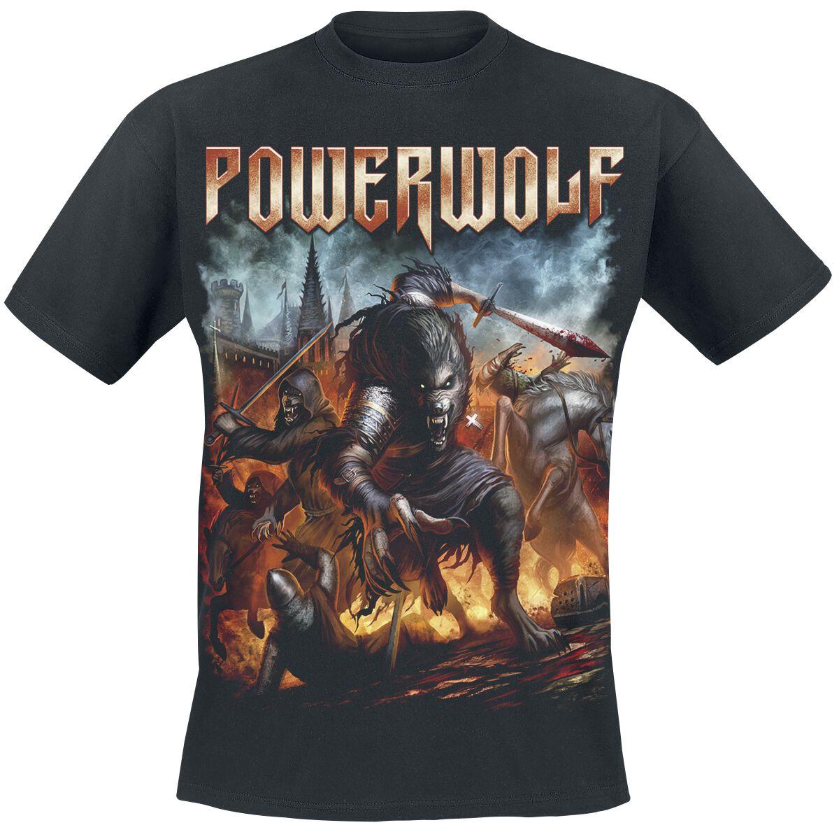 Image of   Powerwolf Viking Wolves T-Shirt sort