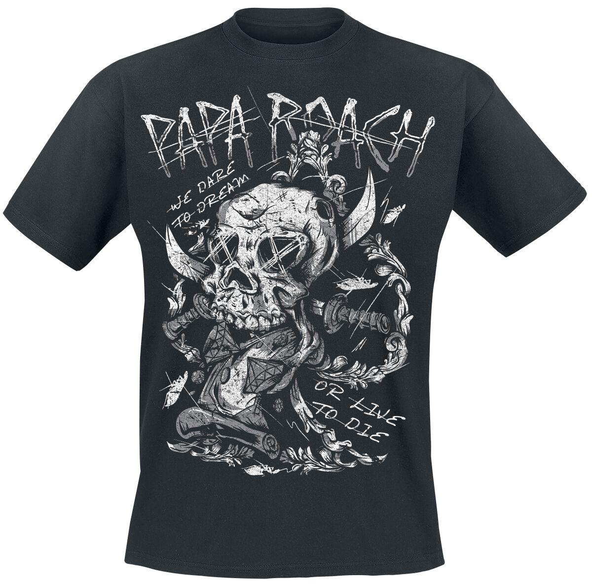 Zespoły - Koszulki - T-Shirt Papa Roach Dare T-Shirt czarny - 354349