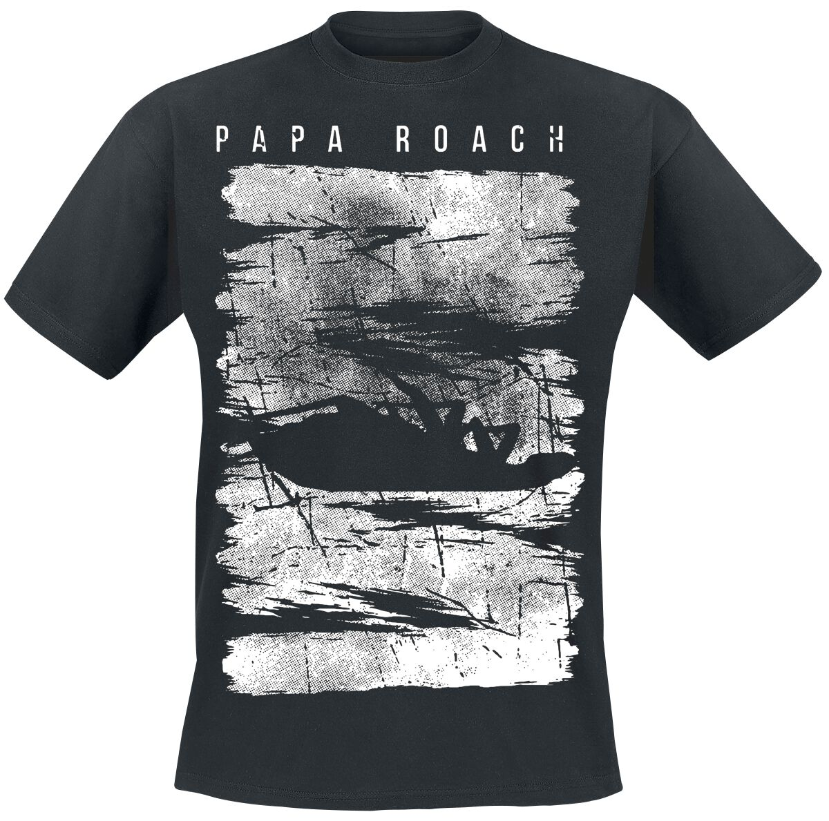 Zespoły - Koszulki - T-Shirt Papa Roach Distress T-Shirt czarny - 354354