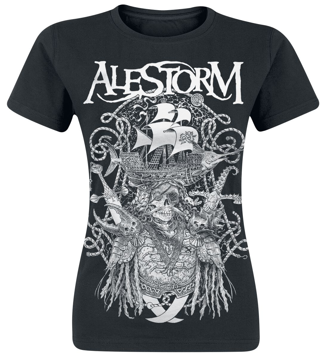 Image of   Alestorm Plunder With Thunder Girlie trøje sort