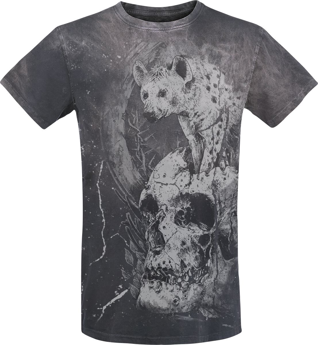 Image of   Gothicana by EMP Hunting At Night T-Shirt grå