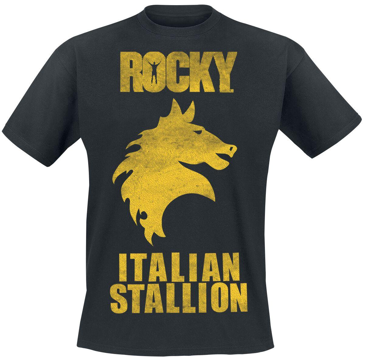 Merch dla Fanów - Koszulki - T-Shirt Rocky Italian Stallion T-Shirt czarny - 354636