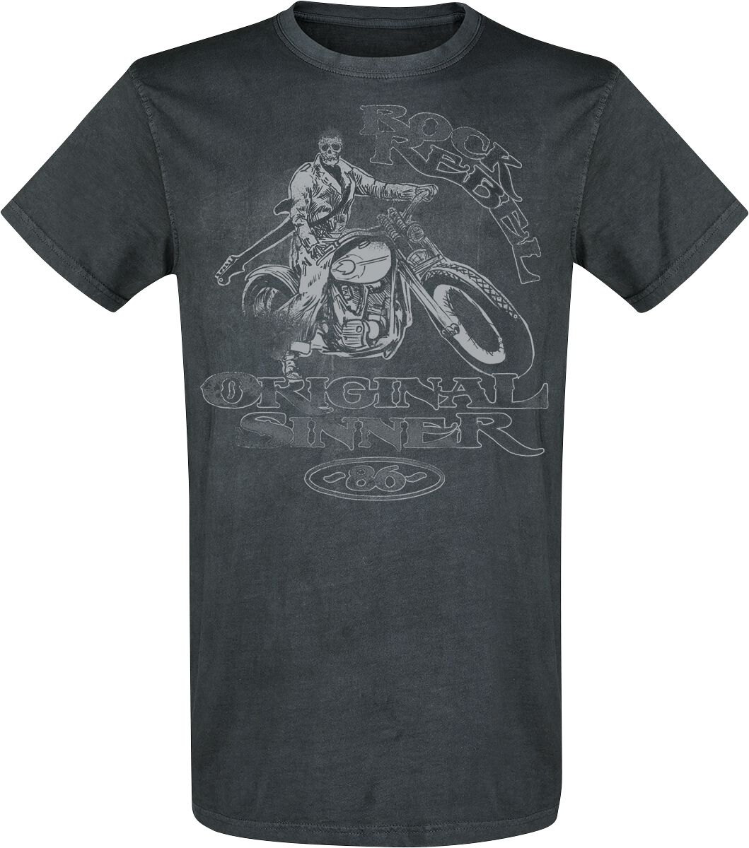 Image of   Rock Rebel by EMP Are You Ready T-Shirt grå