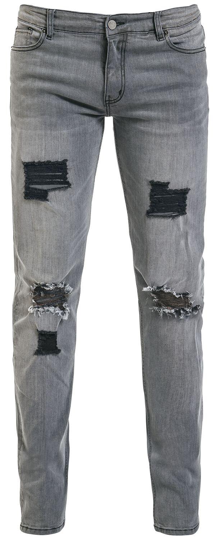 Marki - Spodnie długie - Jeansy Doomsday Asphalt Cowboy Skinny Jeansy szary - 354702