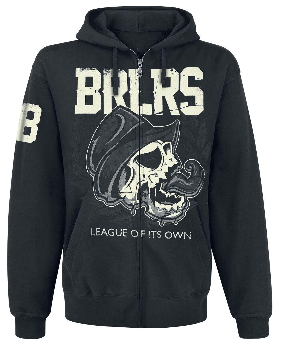 Zespoły - Bluzy z kapturem - Bluza z kapturem rozpinana Broilers League Of Its Own Bluza z kapturem rozpinana czarny - 354714