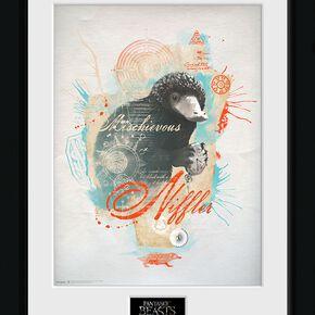 Les Animaux Fantastiques Niffler Photo encadrée multicolore