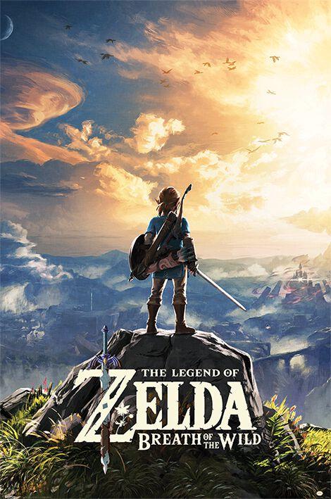 Image of   The Legend Of Zelda Breath Of The Wild - Sunset Plakat multifarvet