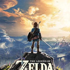 The Legend Of Zelda Breath Of The Wild - Coucher De Soleil Poster multicolore