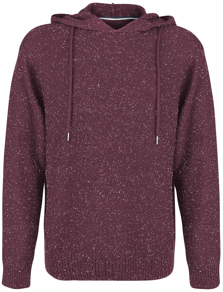 Marki - Bluzy z kapturem - Bluza z kapturem Produkt Neppy Hood Knit Bluza z kapturem bordowy - 354898