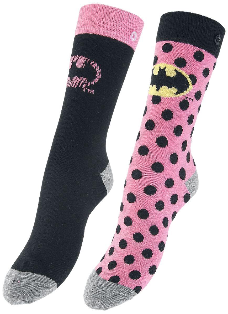 Socken für Frauen - Batman Pink Batman Logo Socken multicolor  - Onlineshop EMP