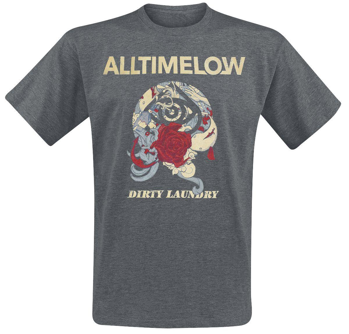 Zespoły - Koszulki - T-Shirt All Time Low Dirty Laundry T-Shirt ciemnoszary - 355037