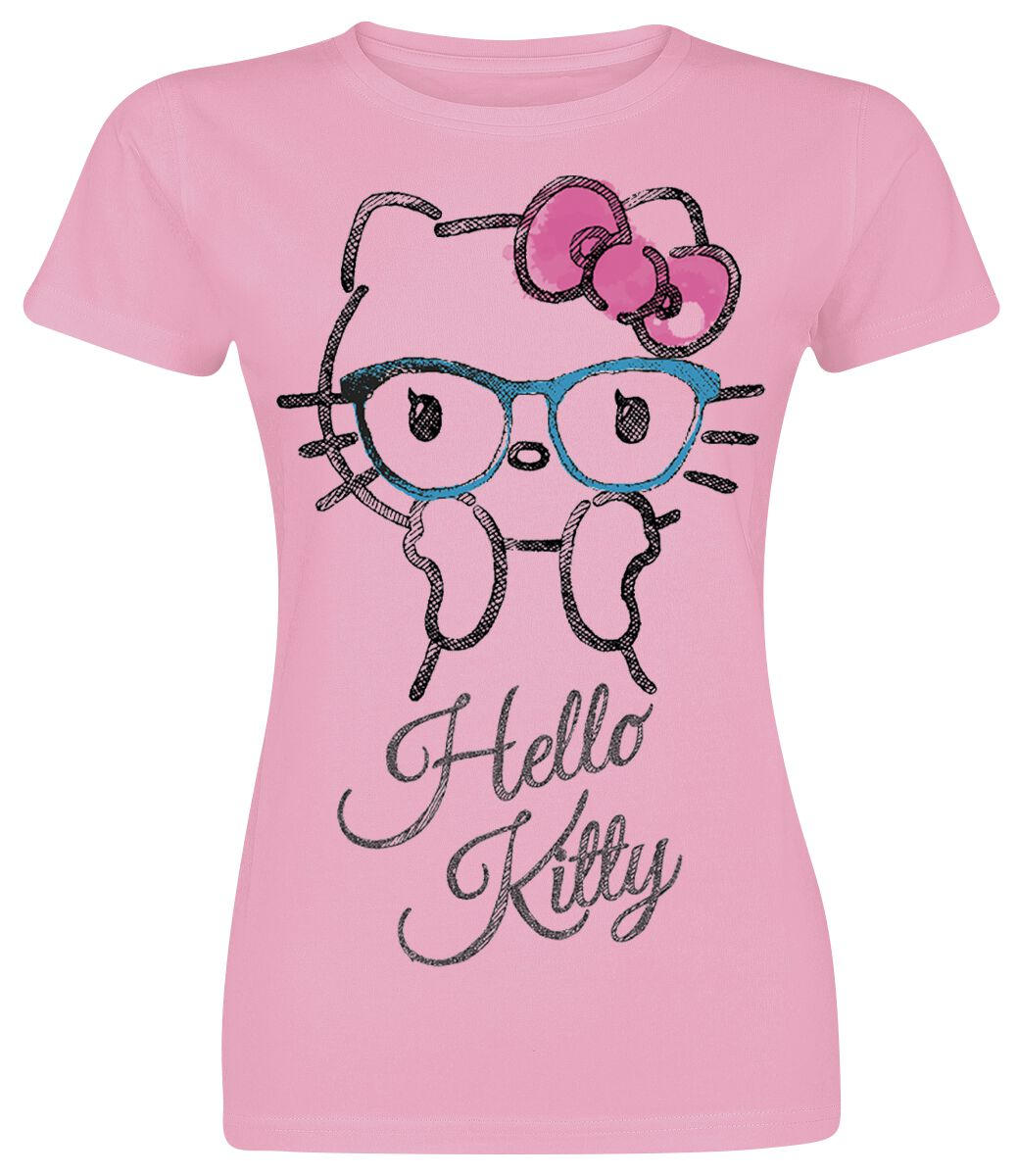 Merch dla Fanów - Koszulki - Koszulka damska Hello Kitty Surprised Koszulka damska jasnoróżowy (Light Pink) - 355066